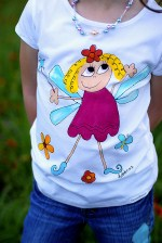 Hand Painted Boutique Elfi Tee