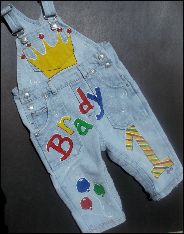 Custom Painted Overalls for Boys--Birthday!-custom painted birthday overalls, personalized, custom, overalls, boutique, boy, girl, toddler, oalls