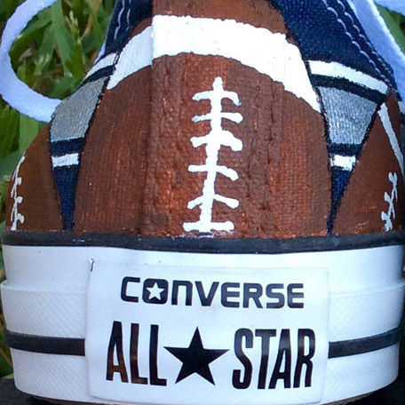 Custom Painted CHUCKS Football Spirit