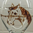 Hand Painted Horse Head and Rope