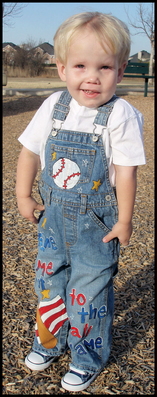 Custom Painted Overalls for Boys-- BaseBall!-Custom painted boutique boy overalls, toddler, child, kids, baseball, hand painted, pageant boy, custom, oalls