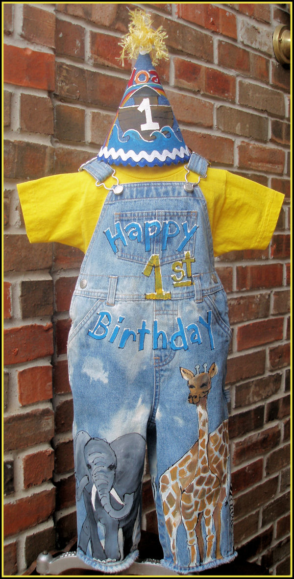 Custom Painted Overalls for Boys--Noahs Ark!-custom painted clothing, custom painted denim overalls, noahs ark, boutique boy, boys boutique clothing, boys toddler clothing, painted personalized overalls, birthday clothing