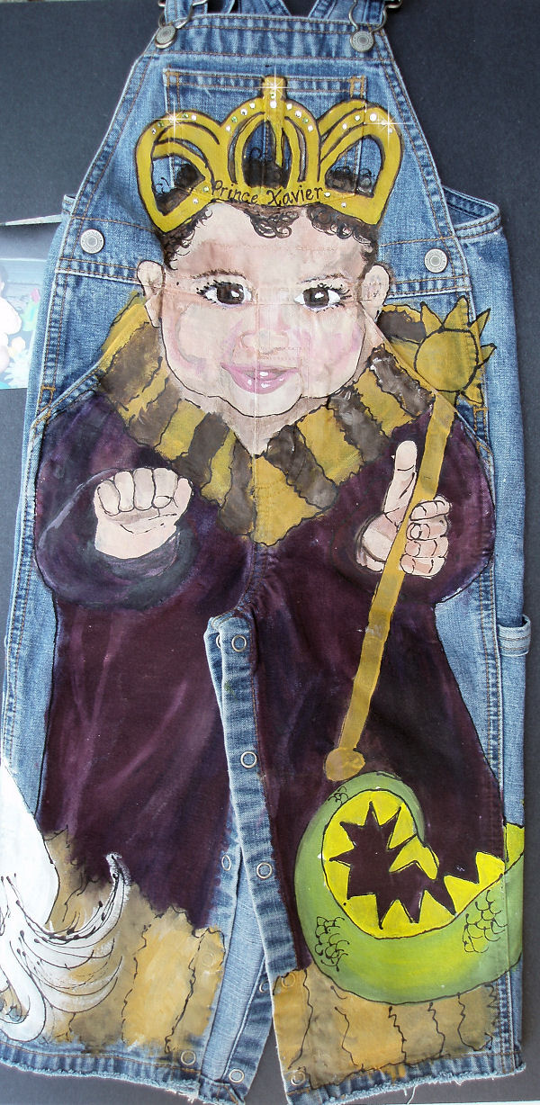 Custom Painted Overalls for Boys--Prince Portrait-custom painted clothing, custom painted denim overalls, prince, boutique boy, boys boutique clothing, boys toddler clothing, painted personalized overalls
