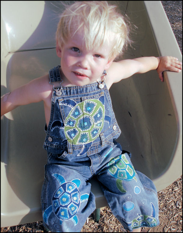 Custom Painted Overalls for Boys--Sea Turtles!-Custom painted turtles overalls, oalls, boutique, boy, childrens painted clothing, kids painted overalls, boys painted overalls